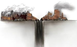 The illegal underground dumping of waste water is said to be common in northern China (Image from Southern Weekend)