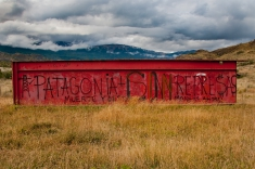 The HidroAysén project is extremely unpopular with the Chilean people, as demonstrated by this graffiti in the Aysén region of Chilean Patagonia. Photo courtesy of James Q Martin.