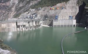 The Jinping Reservoir was filled to 1,840 metres (above sea level) on October 15, 2013; Source: Sinohydro.