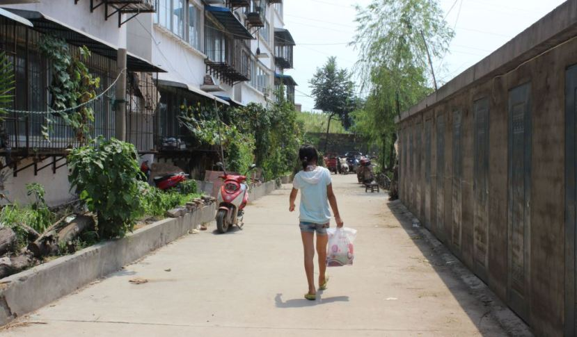 Gangkou Village, one of hundreds that house relocated villagers around Danjiangkou. Quartz / Lily Kuo.