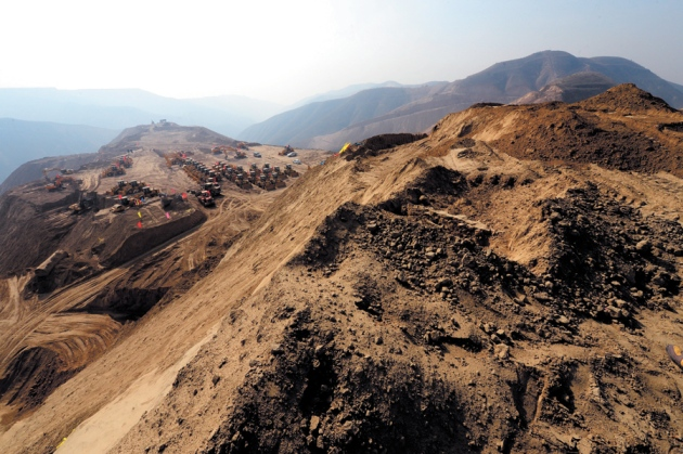 In Lanzhou, China, 700 mountains are being levelled to create more than 250 square kilometres of flat land. Imaginechina/Corbis.