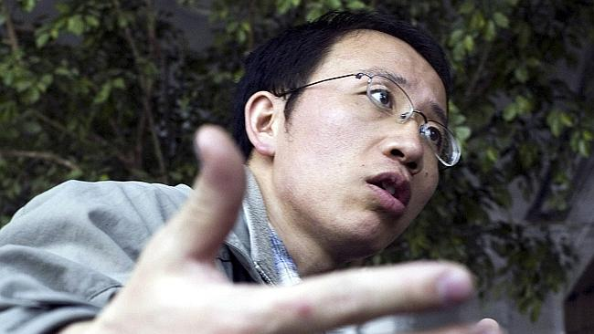Chinese activist Hu Jia in Beijing. Source: AP.
