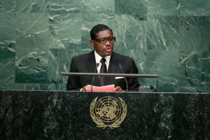 """Teodoro Nguema Obiang Mangue, scion of the ruling family of Equatorial Guinea, one of Africa's smallest countries. Prosecutors say his country's citizens are victims of his """"relentless embezzlement and extortion."""" Credit Frank Franklin II/Associated Press."""
